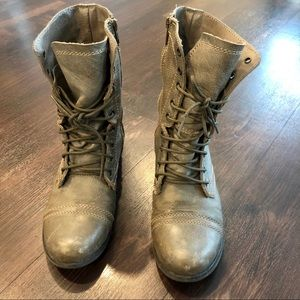 """Steve Madden """"Troopa"""" leather combat boots"""